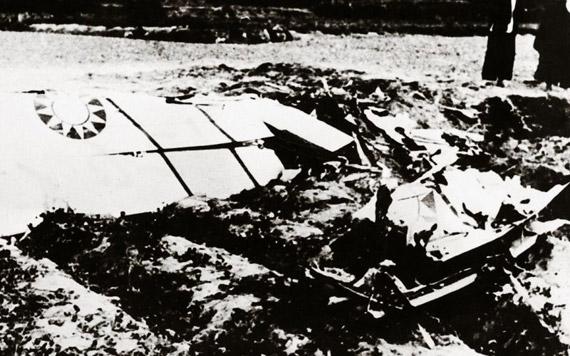 被人民空军击落的敌F-86型飞机图片来源:新华网