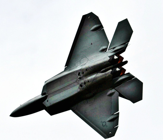 U.S. Air Force active duty F-22A Raptor fighter