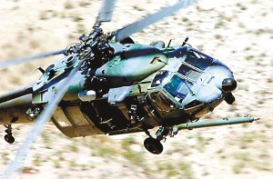 UH-60 Black Hawk helicopters from Sikorsky produced two-turboshaft engine, single rotor helicopter S-70 model developed from a medium-sized general-purpose attack helicopters 。