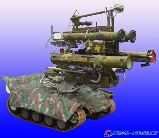 """俄机器人技术应用设计局最新研制的""""MRK-27-BT""""战斗机器人"""