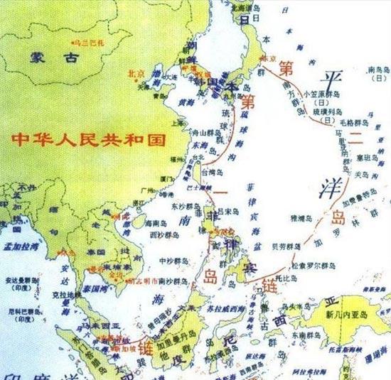 资料图:第一第二岛链示意图