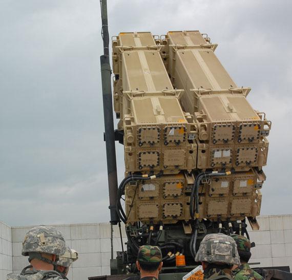 美国今日决定售台爱国者导弹系统。资料图:美国PAC-3爱国者导弹