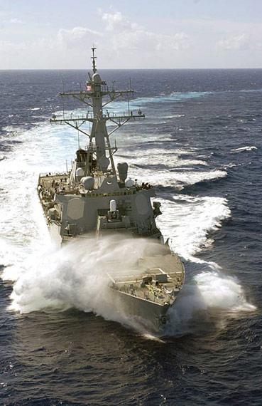 美国军DDG-59拉塞尔号导弹驱逐舰