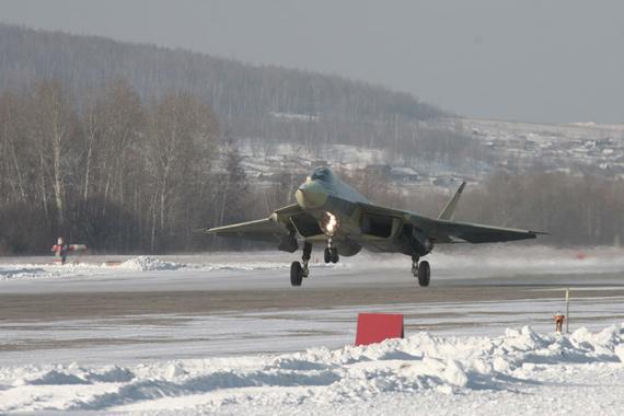俄罗斯T-50型第五代战机起飞