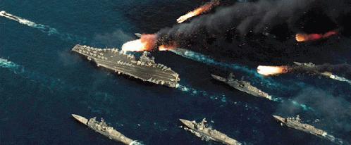 航母战斗群遭天顶攻击想像图