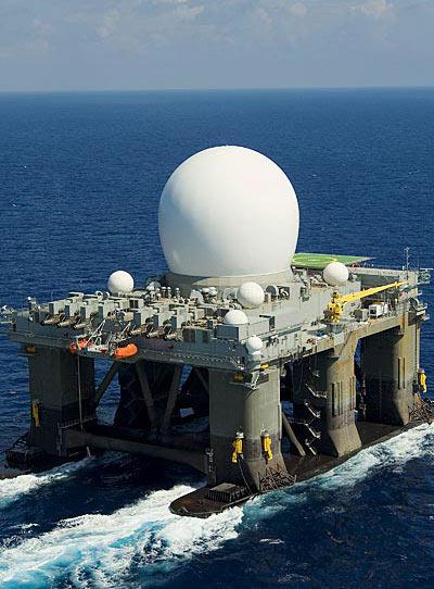 美反导系统海基预警雷达