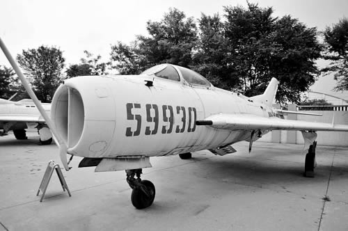 Shen flight Exposition in the display of the F-6