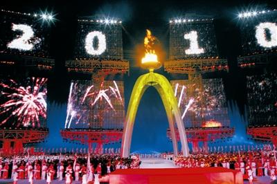 第十六届亚洲运动会在广州隆重开幕温家宝出席开幕式并宣布本届亚运会开幕