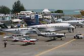 新加坡航展军民用飞机停机坪