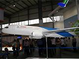 中国C919大型客机首次在欧洲亮相