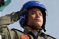 八一飞行表演队飞行员单文平少校