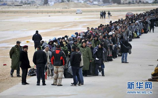people waiting in Libya, China ships ready to evacuate