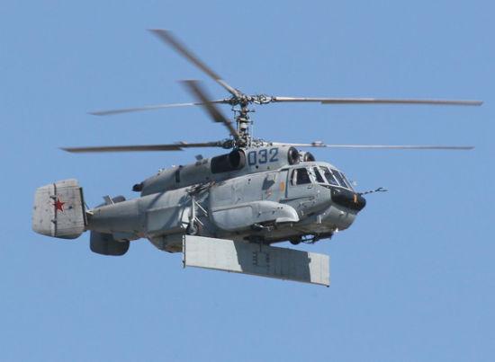 中国装备卡31直升机预警雷达