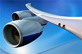 波音747-8客机发动机特写