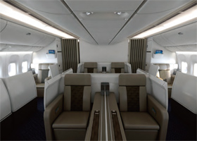 国航波音777-300ER客舱