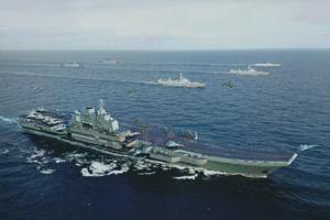 中国航母战斗群设想图