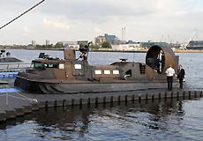 英国海军陆战队的气垫船