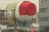 视频:空客A380机身组装过程
