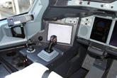 南航首架A380操纵杆特写