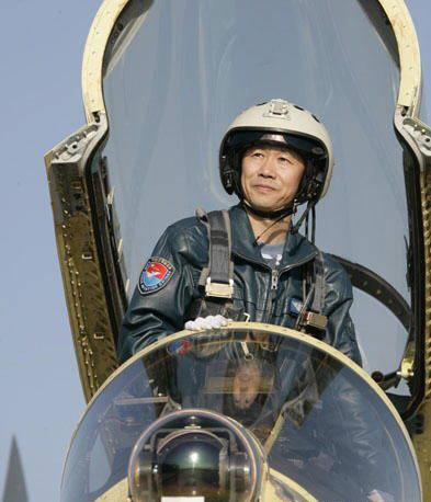 空军试飞英雄李中华(2006年11月14日摄)