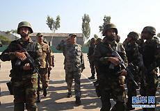 中巴两军将领一同检阅列队的两国参训部队