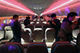 波音787梦想客机客舱