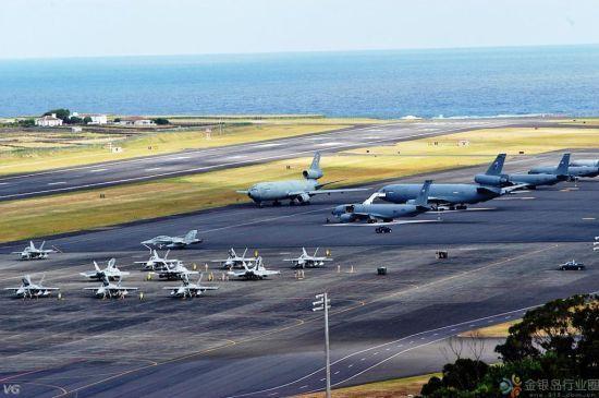 资料图:关岛美军基地。