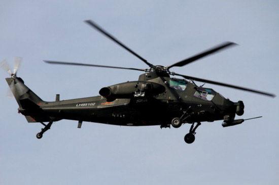 量产型武直-10攻击直升机。