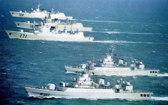 资料图:中国海军新锐战舰群