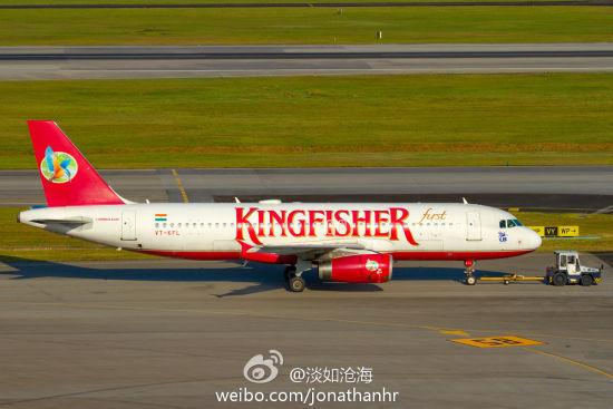 翠鸟航空A320客机 (摄影 @淡如沧海)
