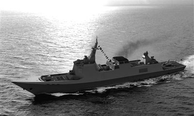 中国新一代导弹驱逐舰想像图