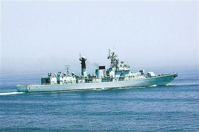 """""""哈尔滨""""号导弹驱逐舰"""