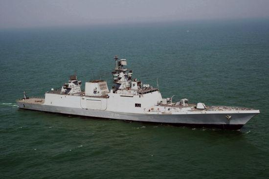 资料图:印度海军萨特普拉号(INS Satpura)隐身护卫舰