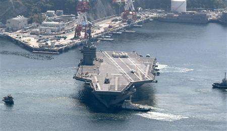 """参加美日韩联合军演的美海军""""乔治・华盛顿""""号核动力航母"""
