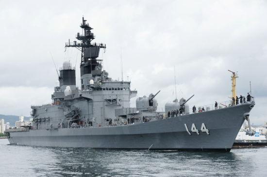 资料图:日本鞍马号直升机驱逐舰
