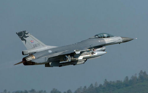 资料图:台军F-16A/B战斗机