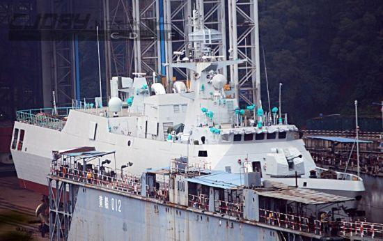 正在建造中的056型护卫舰