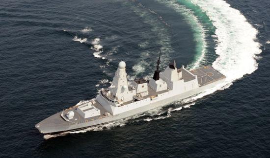 资料图:英国皇家海军45型驱逐舰