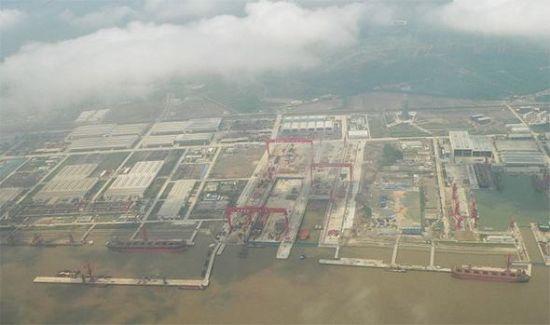 资料图:上海长兴岛造船基地