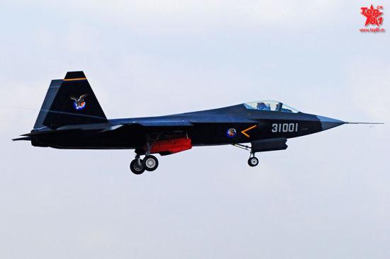 我国最新试飞的编号31001五代机