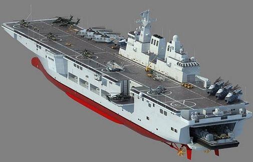 资料图:我国未来两栖攻击舰想像图