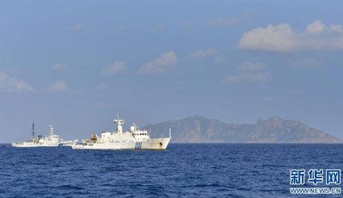 在钓鱼岛执行任务的中国1000吨级以上海监船基本上均为近年新建成的。(新华网图片)