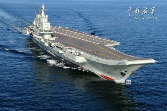 中国航母航行中