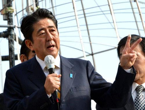 资料图:日本自民党总裁安倍晋三