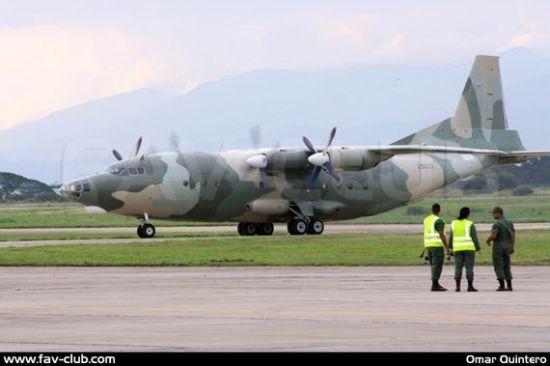 外媒配图:委内瑞拉展示中国运-8C运输机