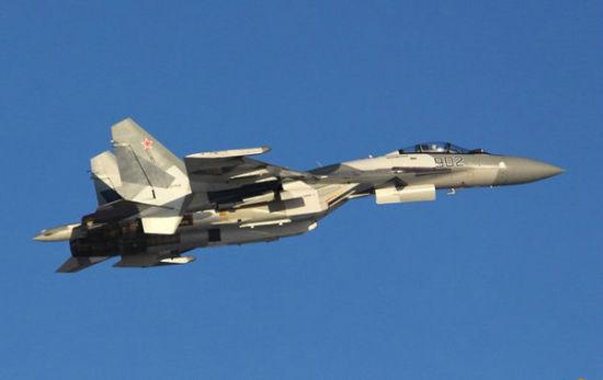 资料图:俄罗斯空军苏-35BM战机。