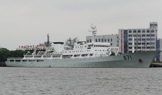 """渔政206船前身是中国海军""""李四光""""号远洋测量船"""
