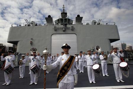 悉尼海军军乐队欢迎中国海军到访