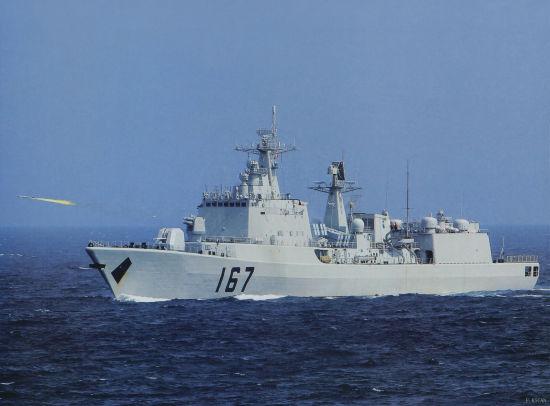 资料图:中国海军深圳号导弹驱逐舰