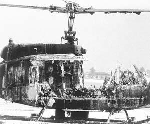 慕尼黑恐怖事件中被炸毁的直升机